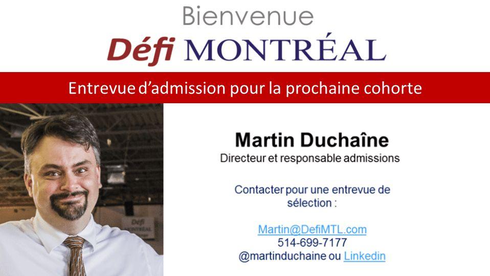 Entrevue pour la prochaine cohorte de Défi Montréal