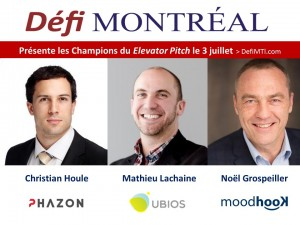 Champions de Elevator pitch par DefiMTL