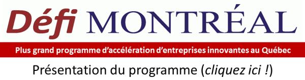 Présentation du programme Défi Montréal
